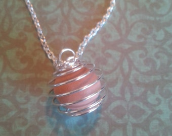 Wire Wrap Terra Cotta Diffusing Pendant with FREE ESSENTIAL OIL sample