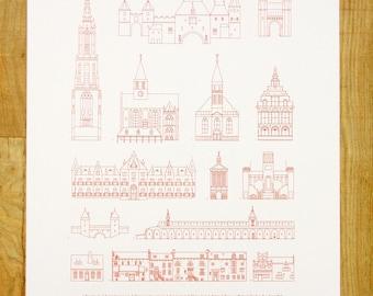 A1 Screenprint Poster Architecture Amersfoort