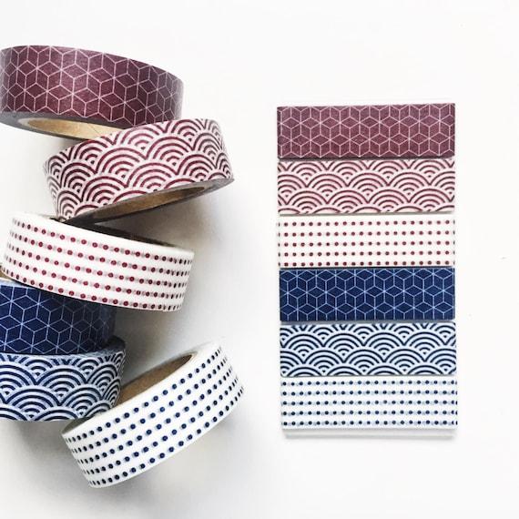 Muji geometric washi tape sample set holiday 2015 limited for Geometric washi tape designs