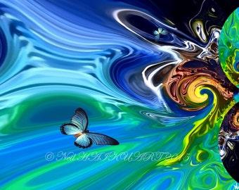 Butterfly Retreat canvas