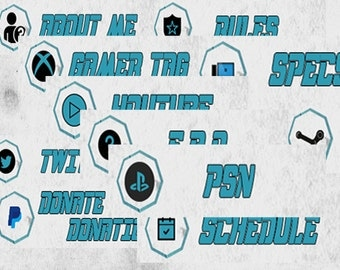 Teal and Black Twitch Panels