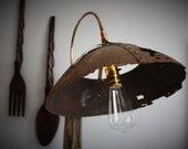 RESERVED!! Floor Lamp | Rustic | Industrial | Reclaimed | Wood | Steel | Steam Punk