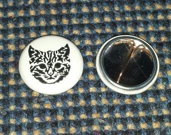 "1"" Cat pinback button"