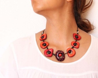 Original necklace Tagua-colombiana