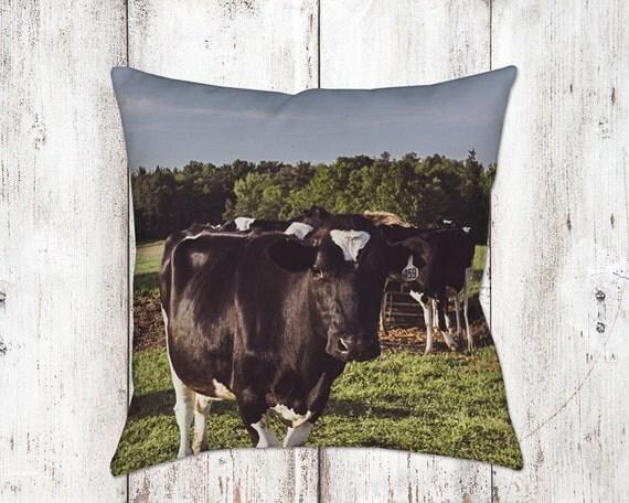 Cow Decorative Pillow - Throw Pillows - Cow Decor - Farm House Decor - Christmas Gifts - For Her - Cows