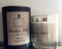 Mocha Handmade Wooden Wick Crackling Candle 200ml | Soy Blend | Presentation Gift Box | Luxury Scented |
