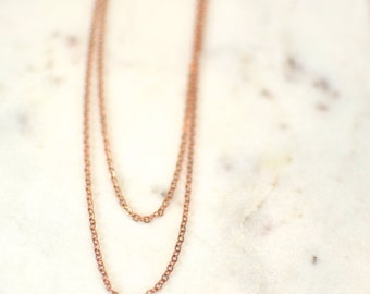 Double Rose Gold Chains