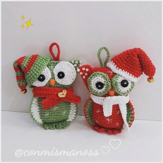 Zelda Amigurumi Patterns : Amigurumi Pattern Christmas Owl in PDF