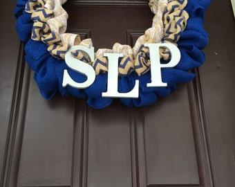 "Speech Therapy ""SLP"" Wreath"