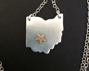 Columbus, Ohio Hometown Pride Necklace