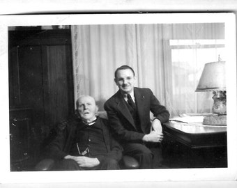 Vintage photo picture snapshot of couple old guys vernacular photography