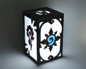 Ambient light of World of Warcraft. Decoration lamp, home decor, illumination, wood. Game, videogame, geek, nerd, gamer. Hearthstone, Wow.
