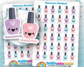 36 Linda manicura/uñas Esmalte/barniz planificador pegatinas Filofax, Erin Condren, planificador feliz, Kawaii, Cute pegatina, Reino Unido