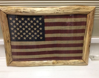 Rustic birch frame