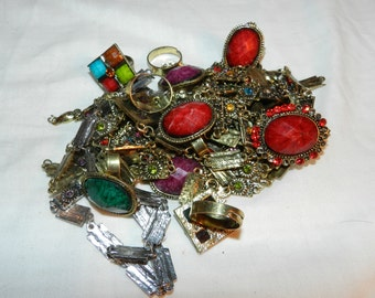 Jewelry Parts / pieces for Art / Crafts Supplies for Found / Altered / Assembled / Collage / Mixed Media or Other Art - Pretty colors  27-24