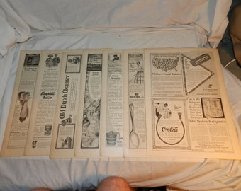 Large Lot of Advertisements / Ads from 1911 Issue of Woman's Home Companion - Smaller Ads mostly Black & White- 11.75 Pages total  K5L1