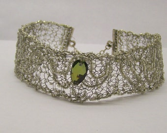 Handcrafted Vintage Seed Pearl Crystal Choker Necklace