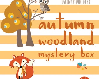Autumn Woodland Mystery Box • Novelty Stationery • Goody Bag • Lucky Dip • Gift for her • Treatbox • Stationery Addict • Party Bag