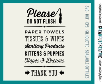 Bathroom Signs Do Not Flush bathroom | etsy