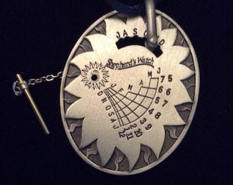 "Shepherds Watch- Sundial Pendant Pewter 2"""