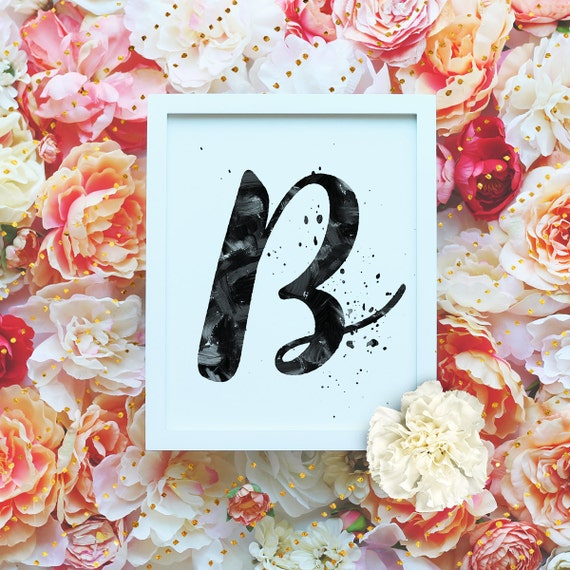 The Letter B Wall Decor : Items similar to monogram letter quot b printable wall art