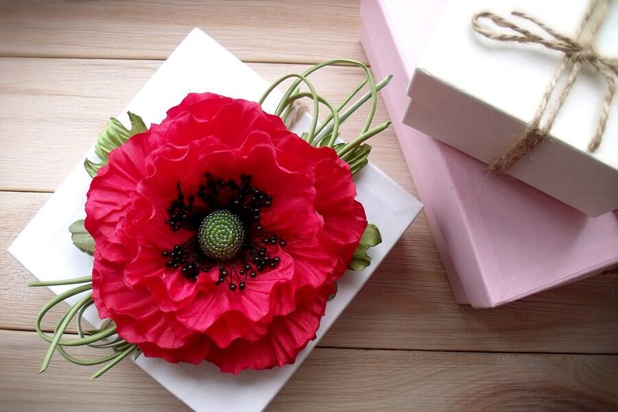 Poppy redbrooch poppyred flowercolor scarletpoppy fabric poppy redbrooch poppyred flowercolor scarletpoppy fabrichandmade mightylinksfo