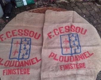 DISCOUNT 2 burlap bags F. CESSOU of Ploudaniel of Finistère