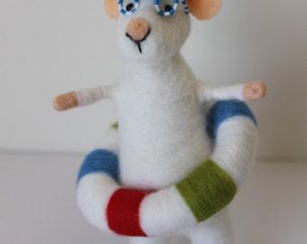 Needle Felted Mouse, Needle Felted Animal, Nature Friendly Soft Toy, Felt Mouse, Eco Friendly Toy, Gift Mouse, Handmade