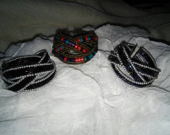 Vintage 3 Tier Cuff Bracelets-NEW Price Reduction