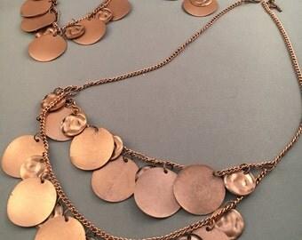 Double-Strand Copper Necklace Set