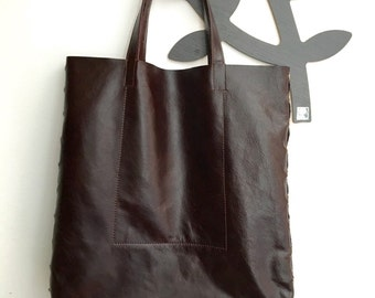 Leather Bag. Shopper. Shopper Bag. Leather Shopper. Handmade. Travel Bag
