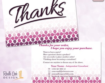USA / Nail Wrap Consultant Stationery / Thanks Postcard / Sized for USA Printing / Personalized / DIGITAL File