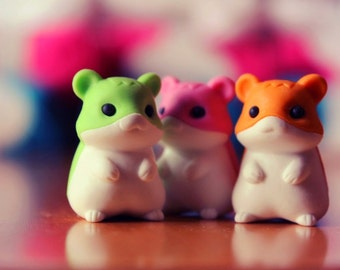 FREE shipping worldwide Cute Hamster Rubber