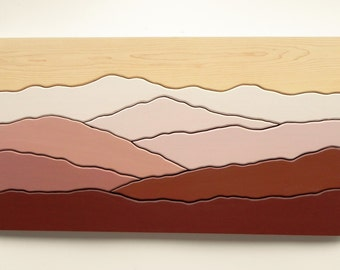 Mountain View, Wood Wall Art, Wall Decoration, Modern Wood Design, Wall Art, Modern Decor, Mountain art, Ridge
