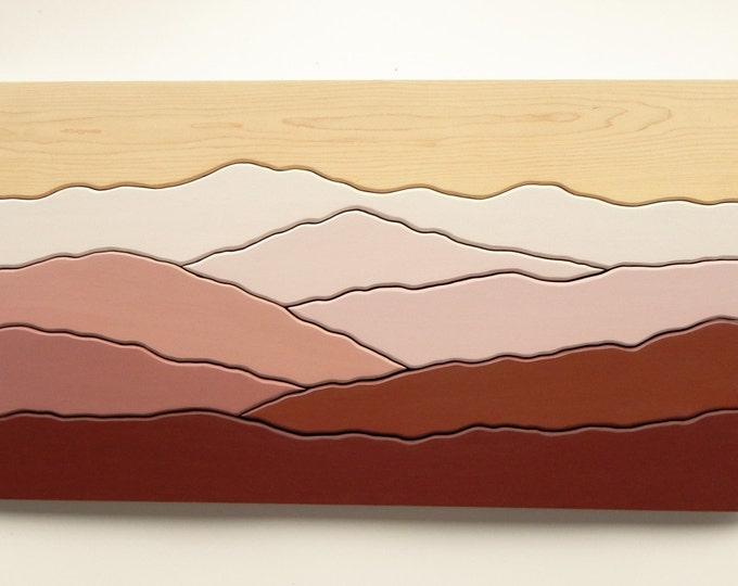 Mountain View, Wood Wall Art, Wall Decoration, Modern Wood Design, Wall Art, Modern Decor, Mountain art, Ridge