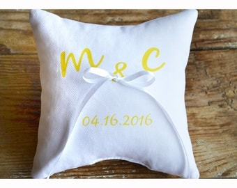 Personalized Ring bearer pillow, Wedding ring pillow , wedding pillow ,personalized ring pillow, ring bearer pillow (R4)