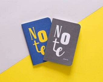 CRAZY NOTEBOOKS, Set of 2 handmade sewn A6 notebooks
