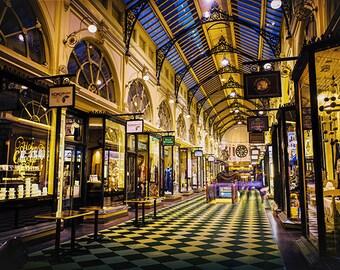Melbourne photography fine art photograph city wallart urban decor Royal Arcade Bourke Street Mall FREE SHIPPING within AUSTRALIA