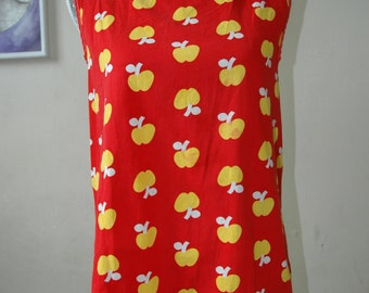 Yellow Apple Open Back Blouse