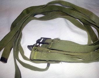 US WWII Military Surplus Field Equipment Straps Green Set of 6 Original