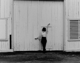 The white and black, self-portrait