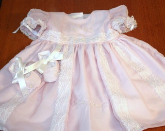 baby girls dress and booties