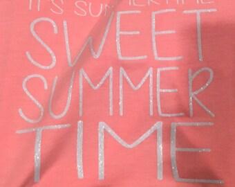 Kenny Chesney Lyric Tank Summertime