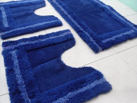 Tappeti per bangno blu arredo bagno vintage tappeto - Set tappeti per bagno ...