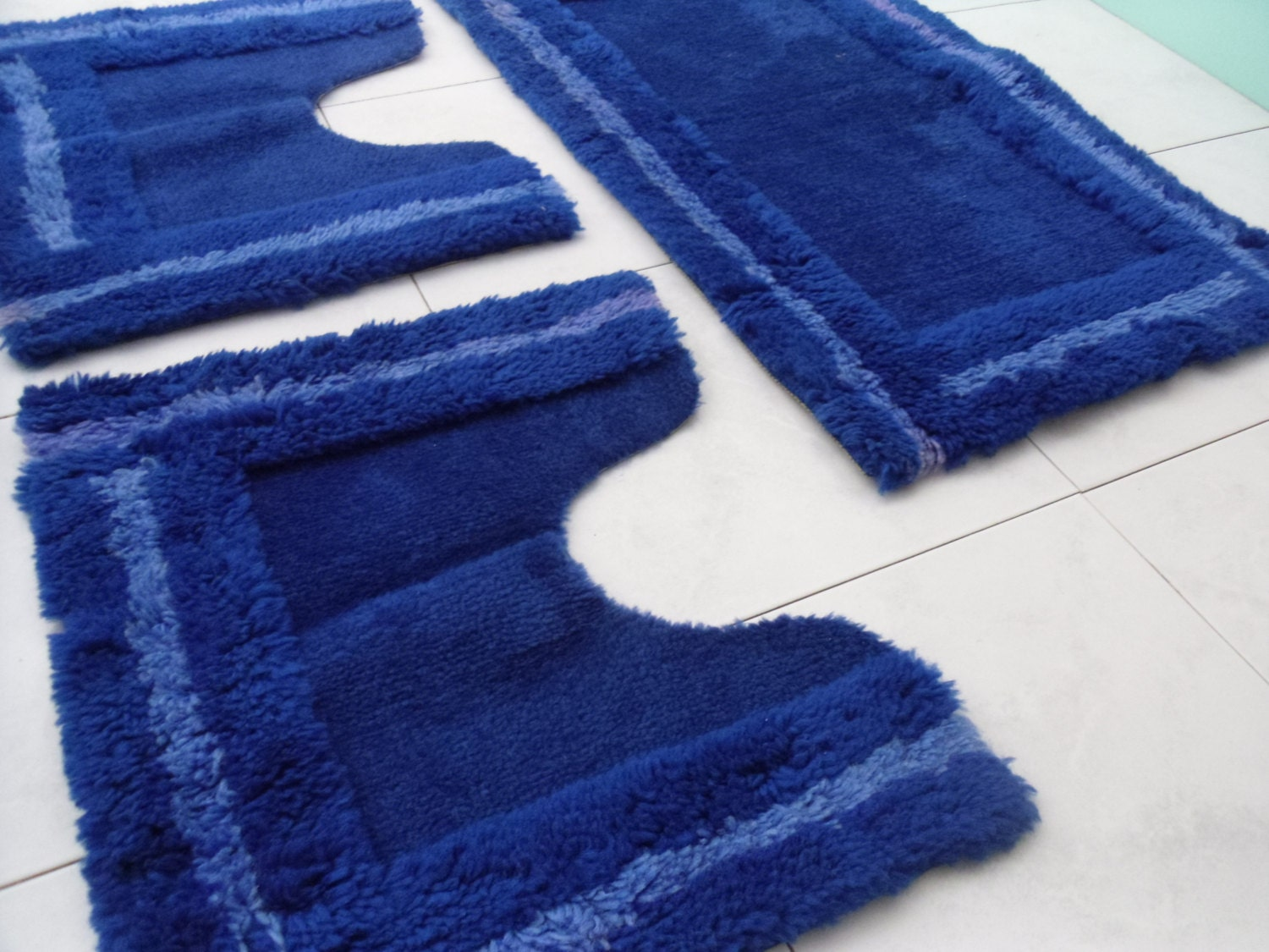 Rug For Bathroom Blue Rug No Slip Rug Vintage Blue Rug