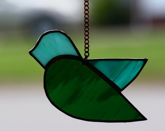 Little Stained Glass Birdie 0320