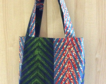 African zippered Tote Bag