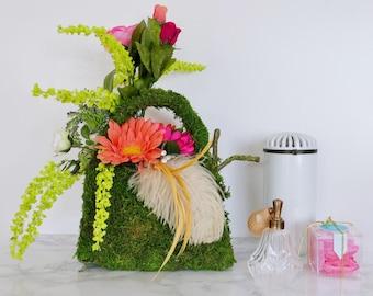 Handbag Faux Floral Arrangement