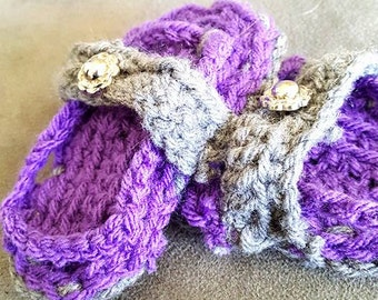 Infant Crochet Sandals