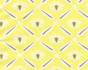Yellow and Gray Clover Window Valance